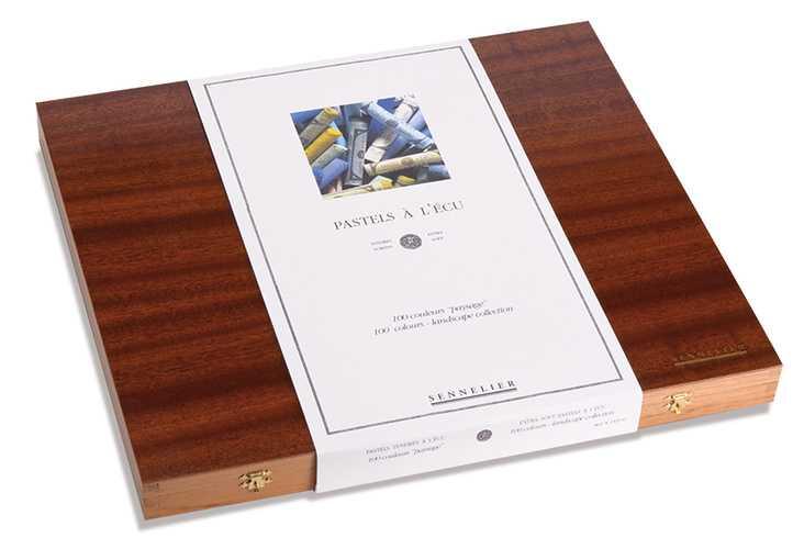 Cofanetto foderato in legno di lusso n132131-paysage-ferme